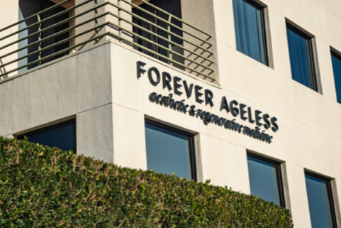 Desk at Forever Ageless MedSpa in Newport Beach